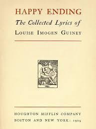 Happy Ending By Louise Imogen Guiney