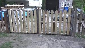 Finishing My Pallet Wood Picket Fence Gate DIY TUBE Video Community