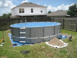 Intex Above Ground Pool Decks My Intex 16x48 With Custom Deck And