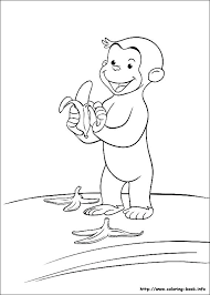 Curious Coloring Pages On Coloring Index Curious George Giant