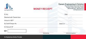 Design Minimal Money Receipt Or Invoice