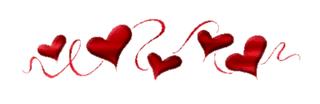 Resultado de imagen para barra separadora flores rojas