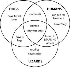 venn diagrams   cheyenne    s math blogfor example  when comparing humans  lizards and dogs students can create a three way venn diagram   differences and similarities of the three things
