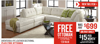 Value City Furniture Leather Sectional 4601