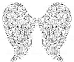 Engel Vleugels In De Stijl Van De Zentangle Voor Tattoo Of Tshirt