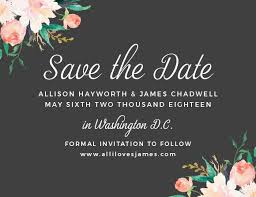 Reserve The Date Cards No Photo Save The Date Cards Match Your Color Style Free