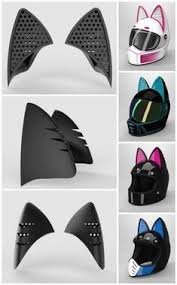 $10.04 off cat ear helmet upgrade: The Cat Ear Helmet Upgrade Is A Flexible Rubber Addition That Is Attached With 3m Tape J Motorcycle Helmet Decals Custom Motorcycle Helmets Motorcycle Helmets