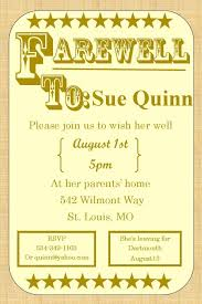 Free Going Away Party Invitations Going Away Party Invitations Farewell Burlap Farewell