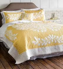 103 best Chedder and Yellow quilts images on Pinterest | DIY ... & Kayla Hand Guided Yellow and White Quilt - Plow & Hearth Adamdwight.com