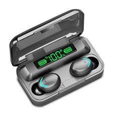 Bản Quốc tế) Tai Nghe Bluetooth 5.0 F9 Pro True Wireless TWS kháng Nước  Chống ồn có Micro Tự Động Kết Nối 8D F96