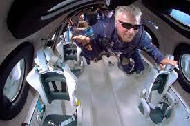 edge of space on Virgin Galactic flight ...
