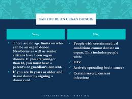 organ donation  4 can you be an organ donor