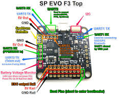 sp racing f evo flight controller guide sp racing f3 evo flight controller pinout top