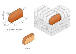 size of a brick bn 10 single bullnose external return on edge special shaped brick