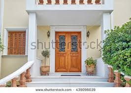 Athens Greece, elegant house entrance