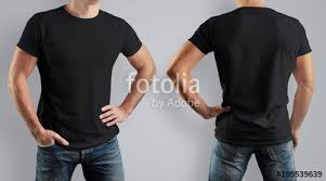 Mock Up Tshirt Mockup Black T Shirt On Strong Man On Gray Background Front View