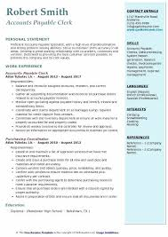 Accounts Payable Manager Resume Classy Accounts Payable Clerk Resume No Experience Account Example