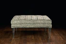 ottoman legs square ottoman with acrylic legs and tribal fabric sofa legs and feet
