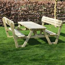 lyddington rounded picnic bench 7ft