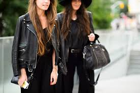 women black biker jacket street style black leather jacket