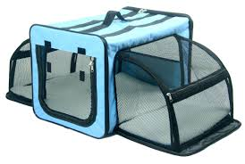 Light Blue Dog Crate Pet Life Capacious Dualsided Expandable Spacious Wire