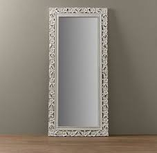 white full length mirror. Wonderful Mirror Vintage Hand Carved Full Length Mirror From Restoration Hardware With White  Floor Design 2 And