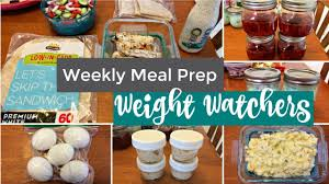weekly meal prep weight watchers freestyle