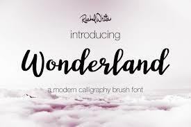 Calligraphy Fonts Wonderland A Modern Calligraphy Font