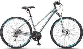 <b>Велосипед Stels Cross</b>-<b>150</b> D Lady 28' V010 Хром (LU092745), 20'