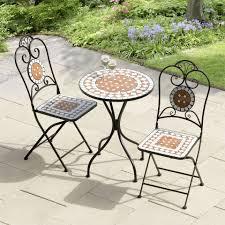 metal patio tables uk. karima diamond mosaic cast iron bistro set metal patio tables uk
