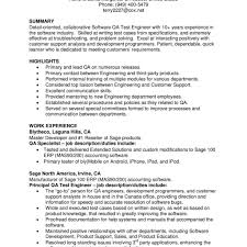 Sample Resume 10 Years Experience Qtp Sample Resume For Software