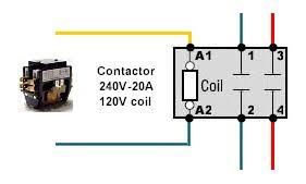 contactor pole wiring question homebrewtalk com beer, wine 240 volt contactor wiring diagram at Contactors Wiring Diagram