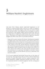 william hazlitt s englishness springer inside