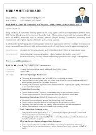 Resume For Bank Job Foodandme Co