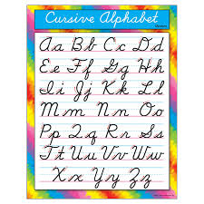 Cursive Letters Chart Trend Enterprises Cursive Alphabet Modern Learning Chart T