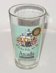 arcadia brewing pint beer glass ipa india pale ale