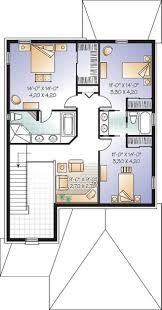 Narrow Bathroom Plans House Plan W3858 Detail From Drummondhouseplanscom