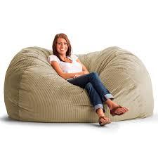 original fuf chair 6 ft xl wide wale corduroy bean bag sofa beach