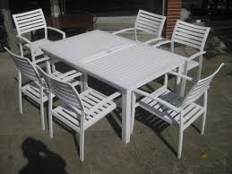 stylish metal patio table and chairs furniture sets vintage outdoor spring steel
