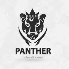 эскиз пантера пантера стилизованные силуэт вектор художественный
