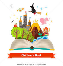 imagination ing to life in a children fairy tail fantasy book flat style vector concept