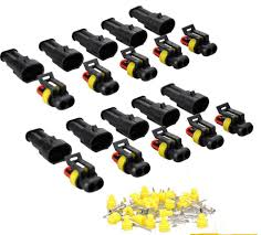discount 10 kit 2 pin way waterproof electrical wire connector 3 wire connector plug at Car Wiring Connectors