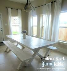 whitewashed farmhouse table diy whitewash farmhouse table