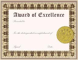 Award Templates Free Word Graduation Certificate Template Word Best Excellence Award Template 16