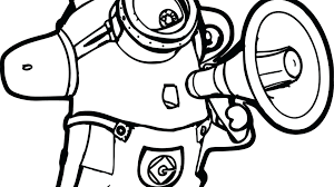 Bob The Minion Coloring Pages At Getdrawingscom Free For Personal