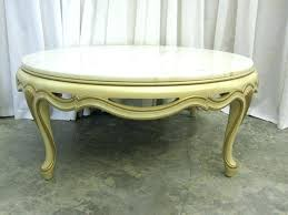 oval marble top coffee table antique white
