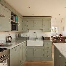 green painted kitchen cabinets. Modren Painted Remodelled Schoolhouse  Renovated To Family House  Housetohomecouk Mobile Throughout Green Painted Kitchen Cabinets
