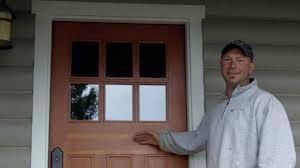 refinishing front doorDoor Refinishing  Douglas Fir Exterior Door  YouTube