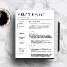 modern resume template for word pages professional resume 1 modern resume template for word pages professional resume 2 page resume cover letter icon set cv template instant by templatestudio on
