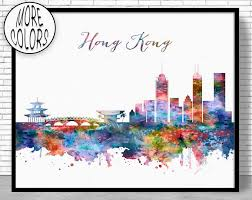 hong kong print hong kong skyline hong kong china office decor office on manchester skyline wall art with 7